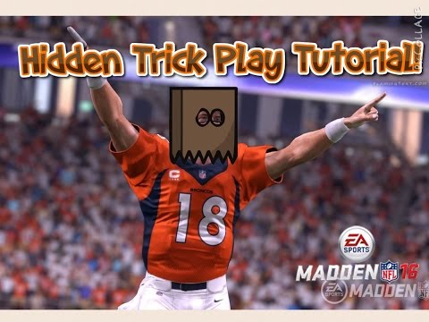 HOW TO DO THE BEST TRICK PLAY EVER IN MADDEN 16 ! ! !