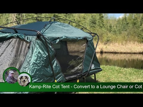 Kamp-Rite Tent Cot - Convert to a Lounge Chair or Cot