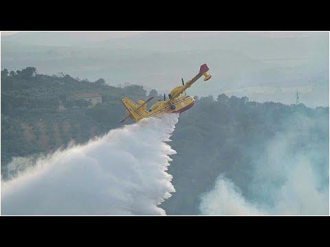 شاهد | طائرات فرنسية ويونانية تشارك في إخماد حرائق سردينيا الإيطالية …  - نشر قبل 4 ساعة