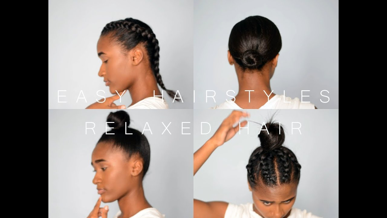 10 Easy Hairstyles in 10 Mins!!!  Relaxed Hair (Protective Hairstyles)  MELINA SINGH