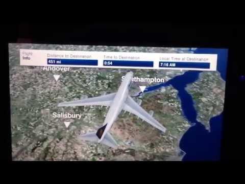 Lufthansa 3D Map Toronto to Frankfurt