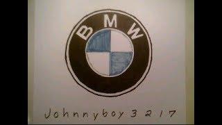 How To Draw The BMW Logo Symbol Emblem Sign Car Auto Step By Tutorial