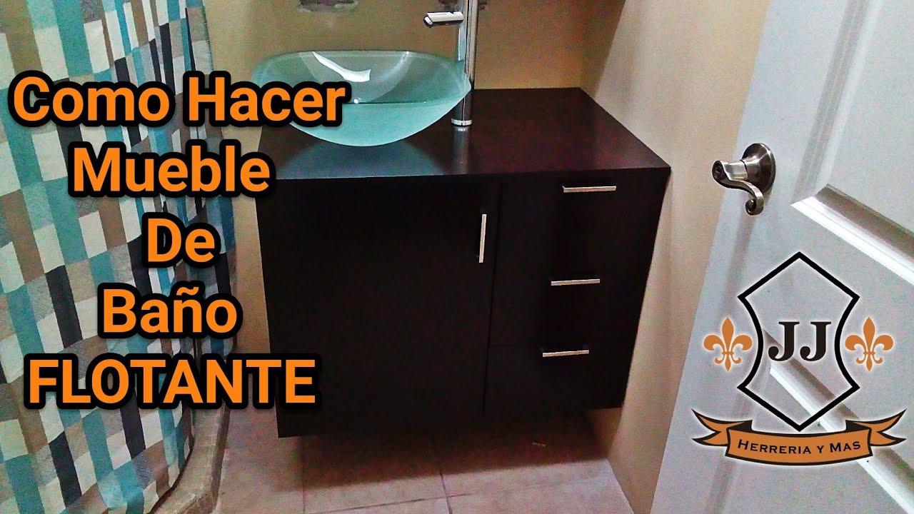 TUTORIAL  Como Hacer Mueble De BAO FLOTANTE  YouTube