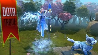 Frost Avalanche Crystal Maiden Arcana custom animation preview Dota 2