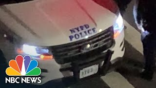 """""""Trump 2020"""" Heard Coming From NYPD Vehicle's Speaker   NBC News NOW"""