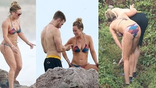 Hilary Duff Shows Off Bikini With Boyfriend Jason Walsh In Puerto Vallarta