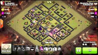 clash of clans gowipe attack strategy th9 vs th9 3 star by Bharata dun