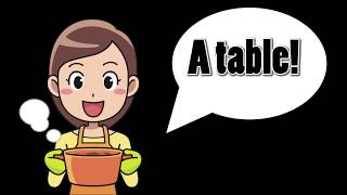 A table!- learn french language with story books