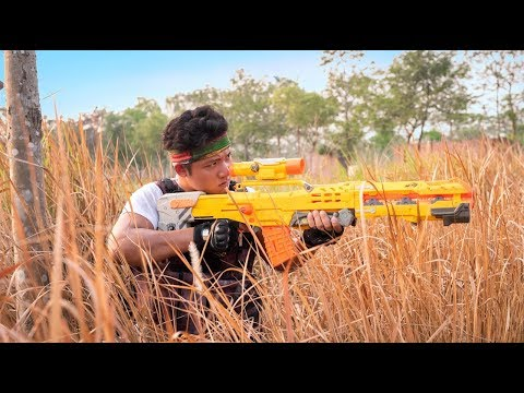 GUGU Nerf War : The Expendables CID Dragon Nerf Guns Fight Criminal Group Mask