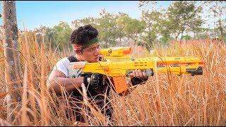 GUGU Nerf War : The Expendables CID Dragon Nerf Guns Fight Criminal Group Mask thumbnail