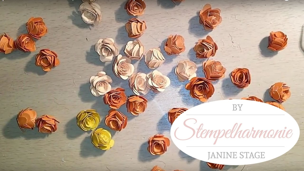 Tutorial Papier Rosen Selber Basteln Blumen Fur Hochzeitsprojekt
