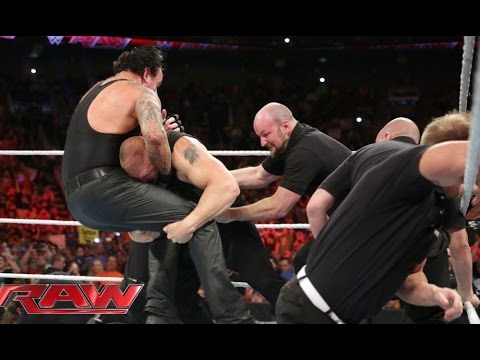 brock lesnar confronts the