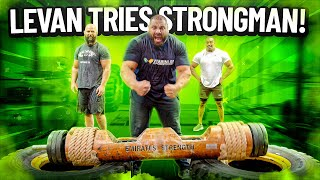 LEVAN SAGINASHVILI TRIES STRONGMAN!
