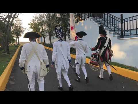 Marcha a la explanada al frente del Castillo San Felipe del Morro - parte 5