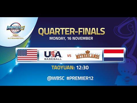 USA vs Netherlands - WBSC Premier12 Quarterfinals