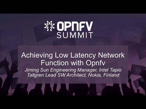 Achieving Low Latency Network Function with Opnfv