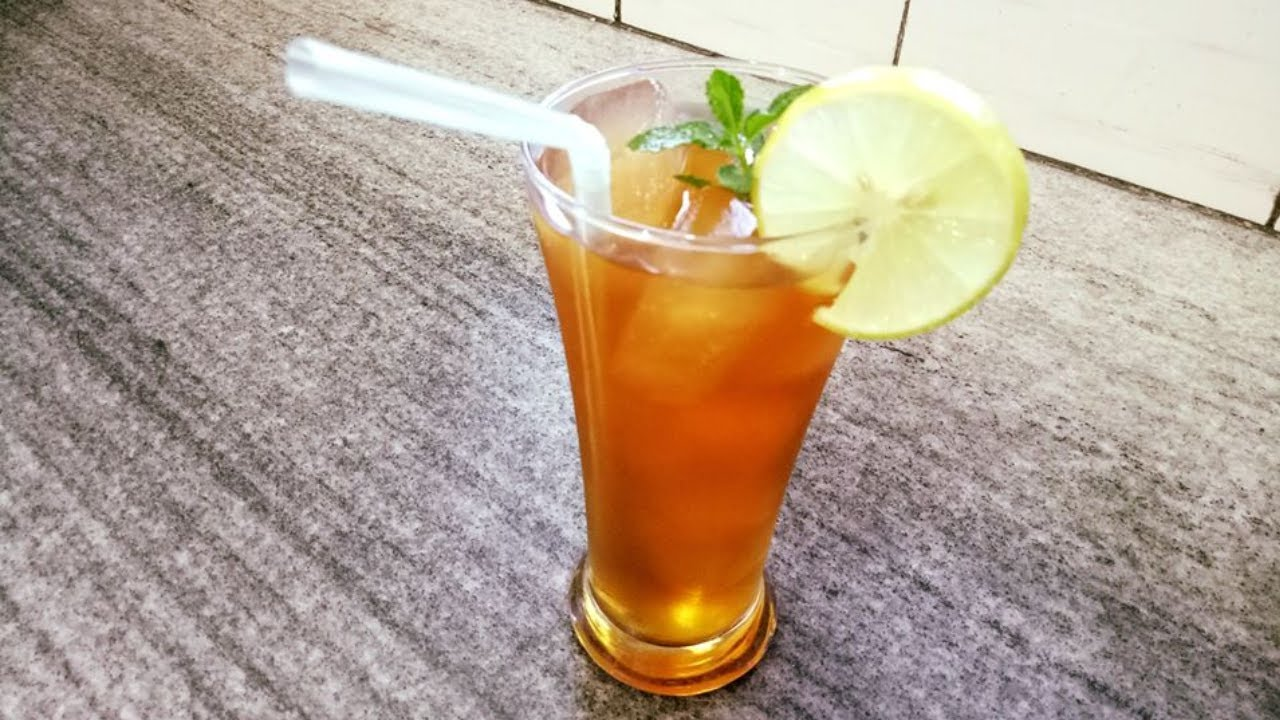 Lemon Mint Iced Tea Recipe Lemon Iced Tea Recipe Sweet Iced Tea Recipe Summer Drinks Youtube