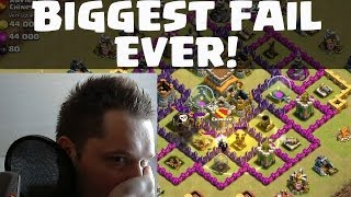 [facecam] Clash of Clans || BIGGEST FAIL EVER ! || Let's Play Clash of Clans [Deutsch/German HD]