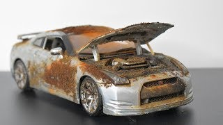Restoration Abandoned Toy Car - Nissan GTR
