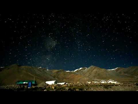 Timelapse of stars - shot near our camps at Pangong Lake, Ladakh, India