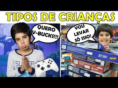 TIPOS DE CRIANÇAS COMPRANDO PRESENTE DE DIA DAS CRIANÇAS thumbnail