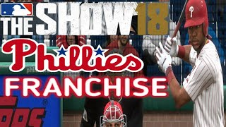 MLB The Show 18 (PS4) - Phillies vs Braves Game 2 (Full Broadcast Presntation)