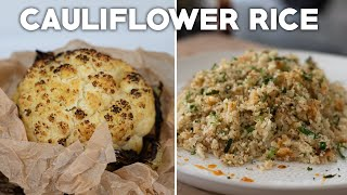 Low Carb Cauliflower Healthy Recipes (Fried Rice, Roasted, Creamy Mash, Chocolate Mousse)