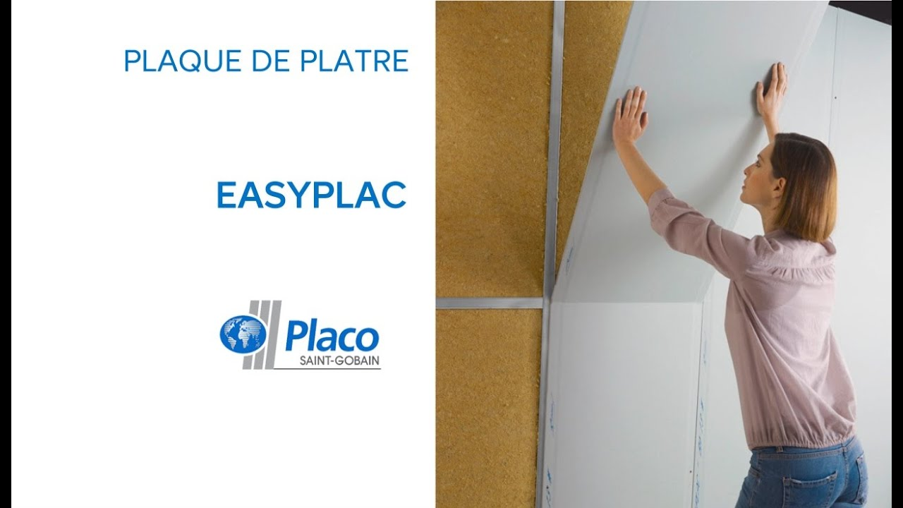 Plaque de pl tre easyplac placo 575529 castorama youtube for Monter des plaques de platre