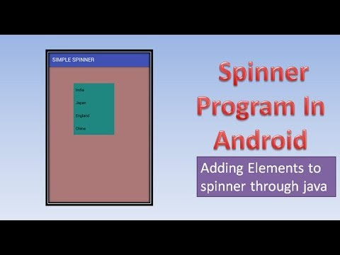 Spinner Program of Adding Elements to spinner through java,#46