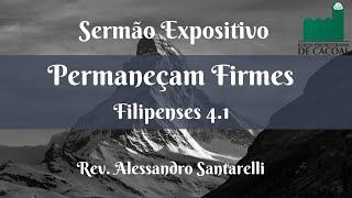 Permaneçam Firmes - Rev. Alessandro Santarelli