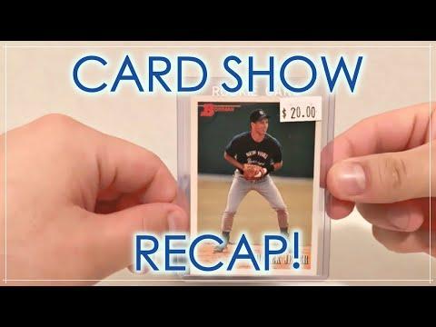 Card Show Recap! Jeter & Ichiro Rookie Cards!