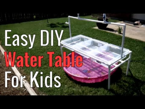 Super Fun & Easy DIY Kids Water Table For Hot Summers