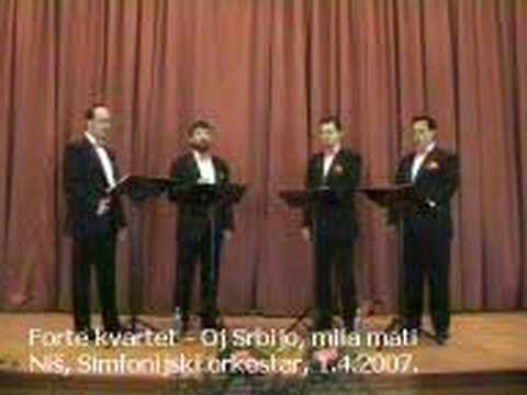 Oj Srbijo mila mati - FORTE kvartet LIVE