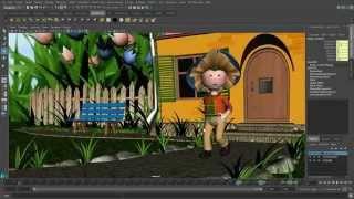Создание 3-D мультфильмов в программе MAYA. Урок 7. Работа с камерами. Съемка с разных ракурсов