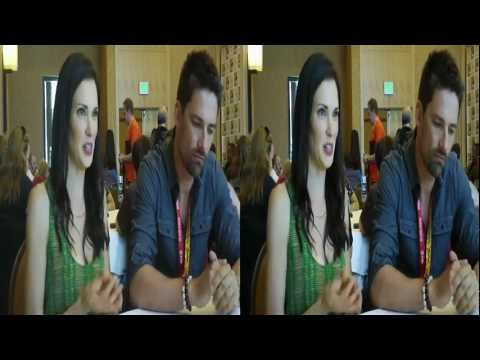 Alphas stars Laura Mennell & Warren Christie discuss Season 2 in the SDCC 2012 Syfy Press Room