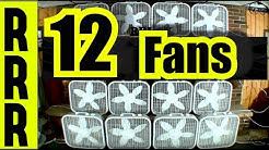 FAN NOISE of 12 FANS for 12 HOURS = BOX FANS WHITE NOISE FOR SLEEPING