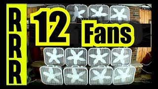 FAN NOISE = 12 FANS for 12 HOURS = BOX FANS GALORE for  FAN WHITE NOISE