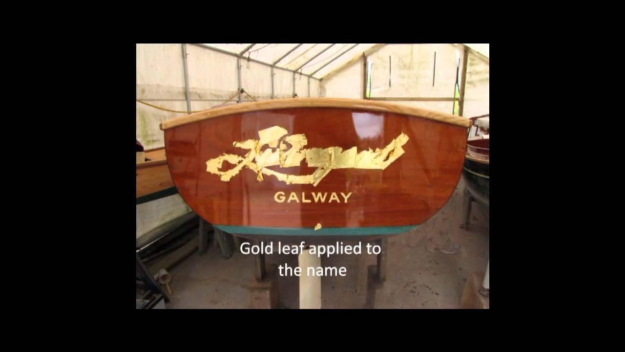 gold leaf lettering on a boat transom 3 livingood