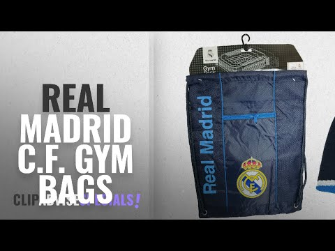 Featured Real Madrid C.F. Gym Bags [2018]: Real Madrid C.F. Official Licensed Soccer Cinch Bag &