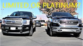 2020 Ram 1500 Limited Vs 2020 Ford F-150 Platinum: Which $66,000 Truck Wins???