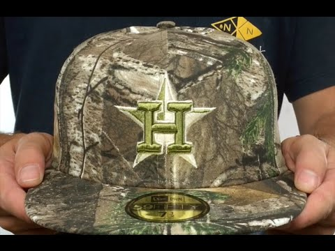 d2c341ecf6d Astros  MLB TEAM-BASIC  Realtree Camo Fitted Hat by New Era - YouTube
