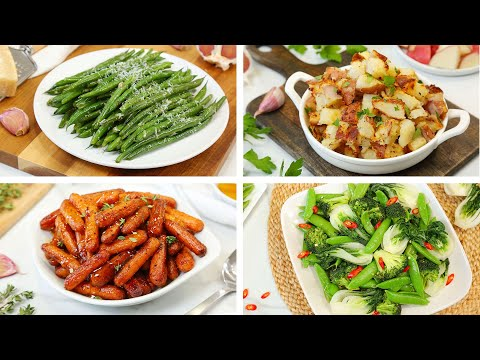 4-healthy-side-dishes-|-easy-delicious-weeknight-dinner-recipes