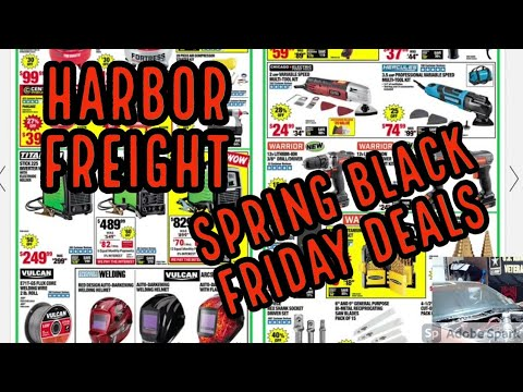 Harbor Freight Spring Black Friday Sale Don't miss the good deals