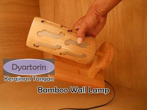 Kreasi unik kerajinan tangan dari bambu - Lampu hias dinding minimalis buatan sendiri