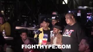 FLOYD MAYWEATHER CRASHES PACQUIAO VS. VARGAS; MAKES RARE APPEARANCE AT FIGHT