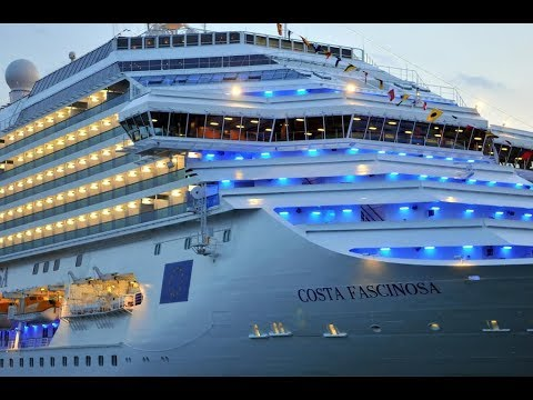 Cruise Costa Fascinosa HD 1080p Suite cabin Mediterranean sea cruise