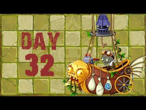 Plants vs Zombies 2 Lost City Day 32 BOSS [Zombot Aerostatic Gondola] No Premium