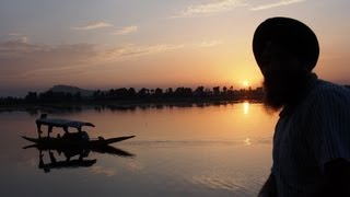 Sunset over Dal Lake in Srinagar
