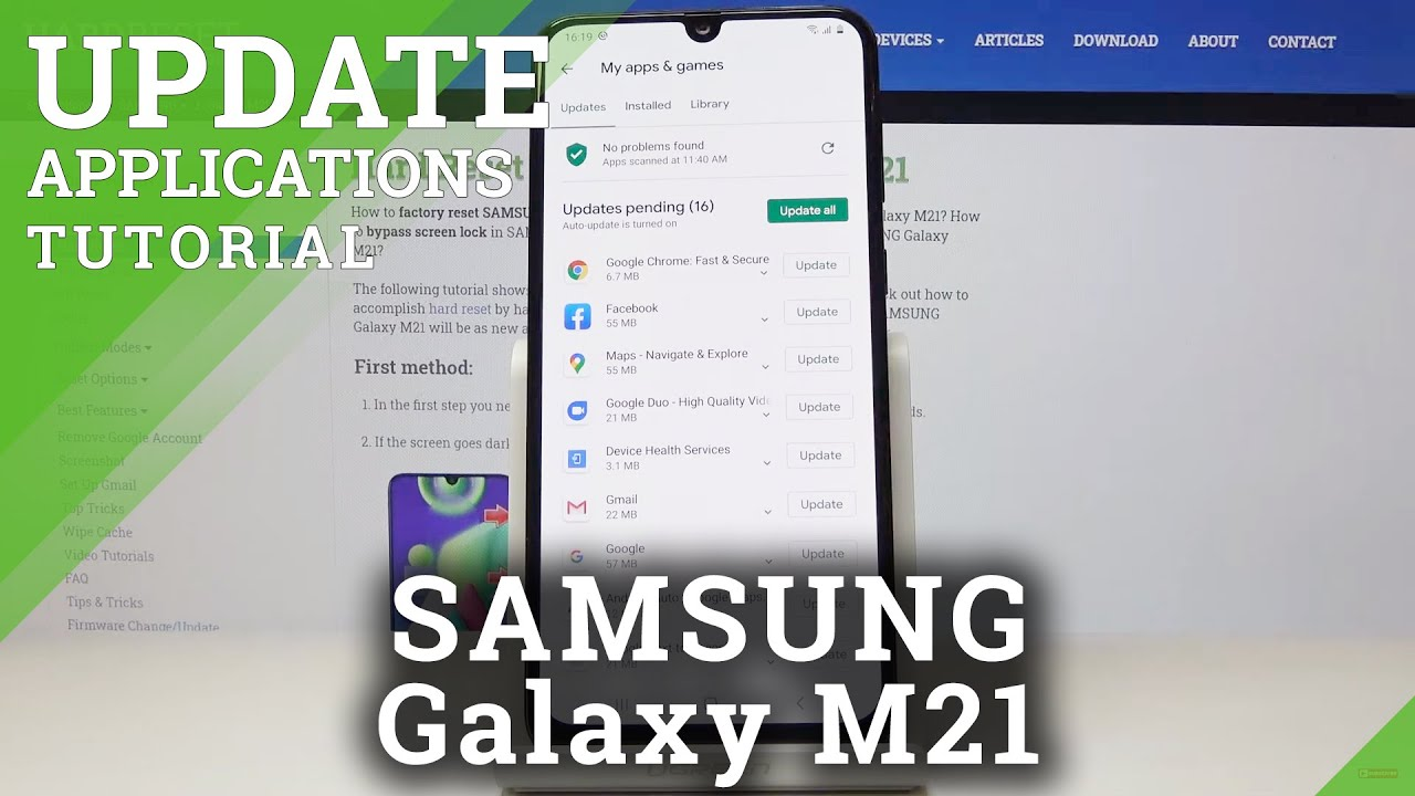 How to Update Apps in SAMSUNG Galaxy M21 – Newest App Version