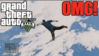 GTA V - Jumping From Highest Point in The Game! (Live Commentary)